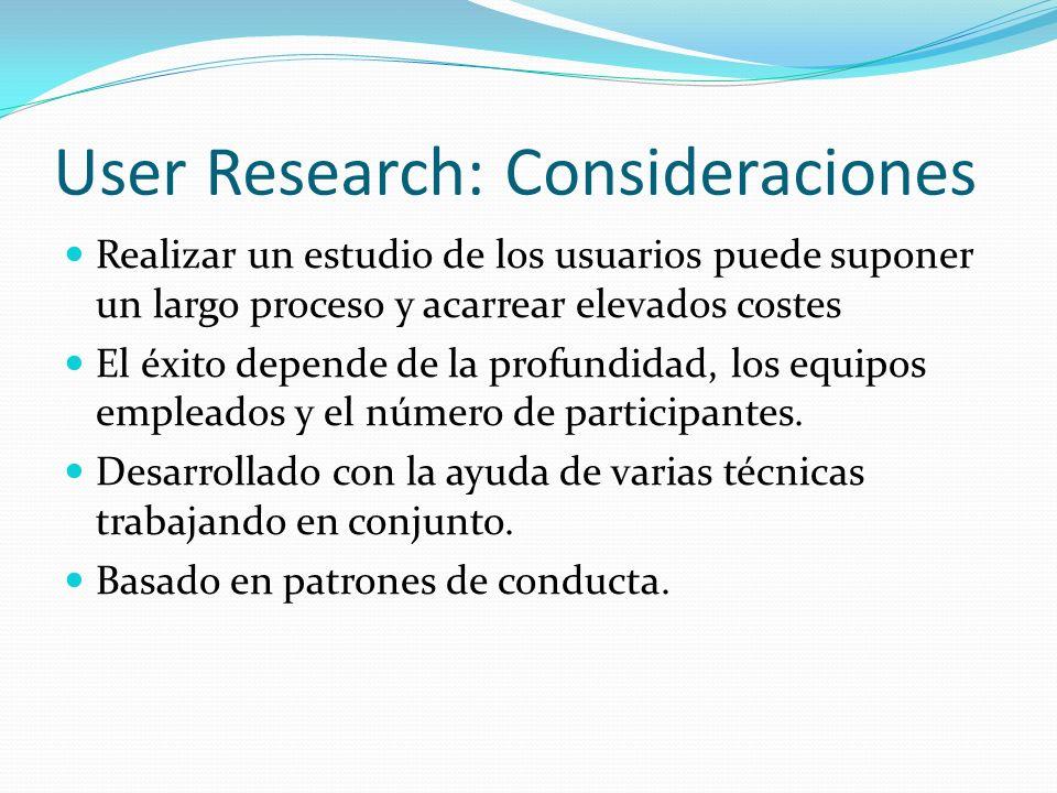 User Research: Consideraciones