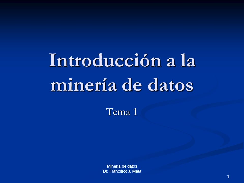 Introducción a la minería de datos