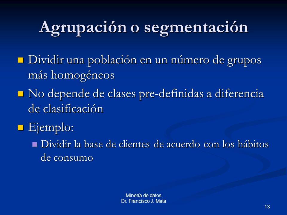 Agrupación o segmentación