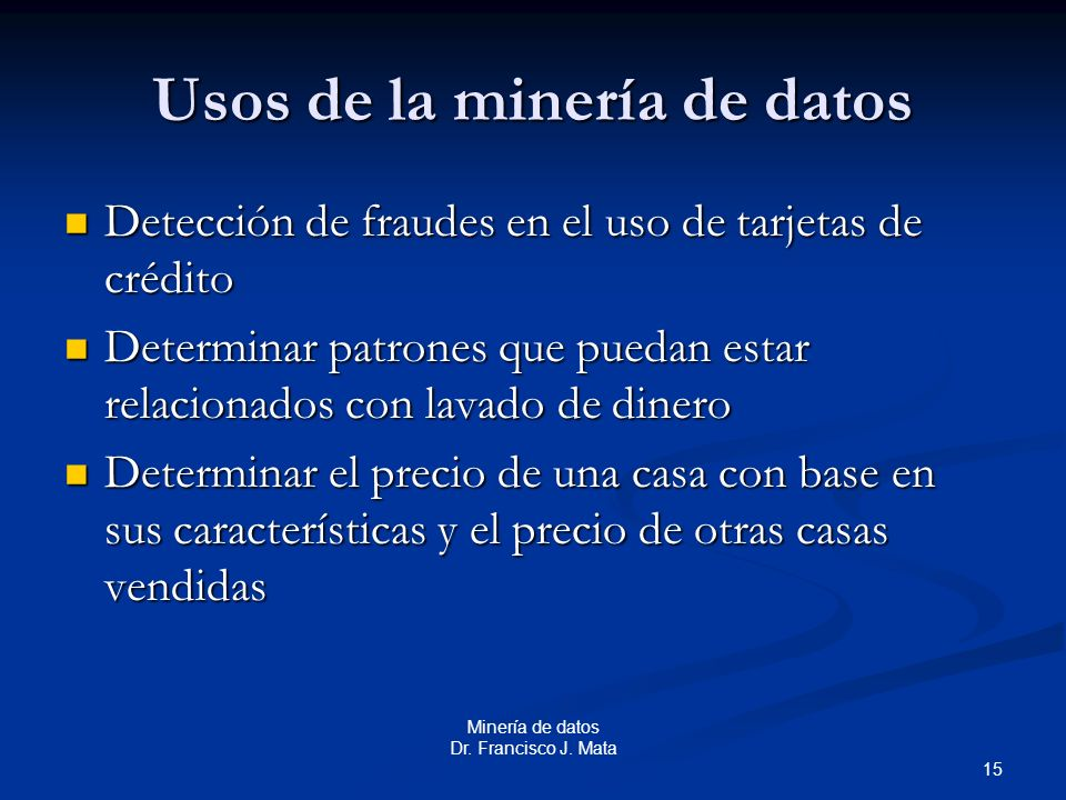 Usos de la minería de datos
