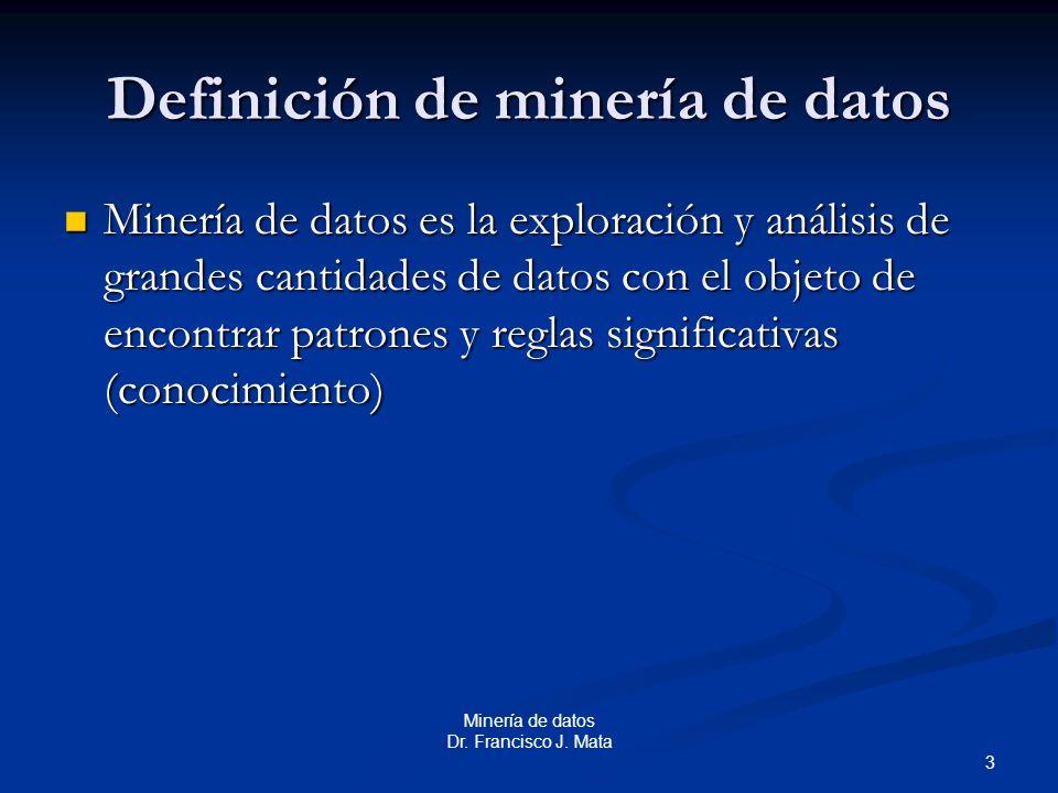 Definición de minería de datos