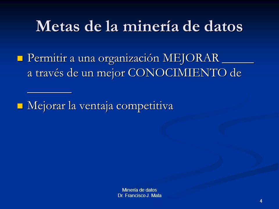Metas de la minería de datos
