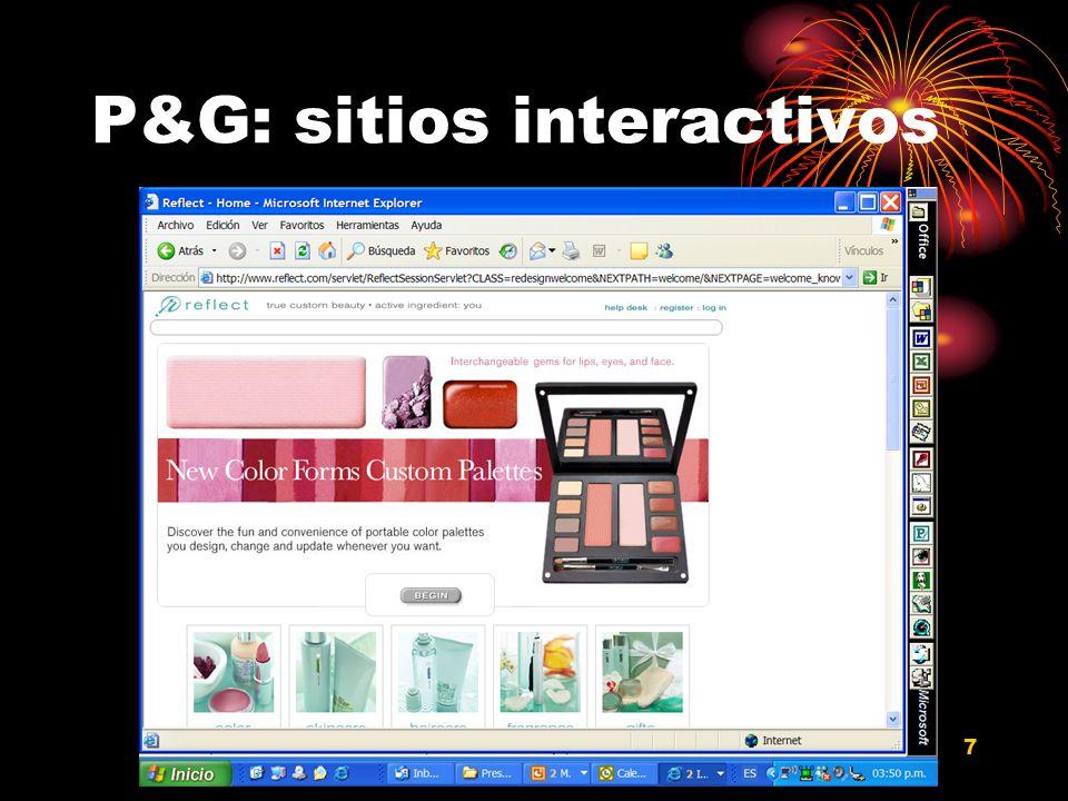 P&G: sitios interactivos