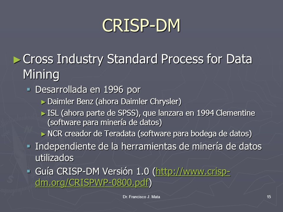 CRISP-DM Cross Industry Standard Process for Data Mining