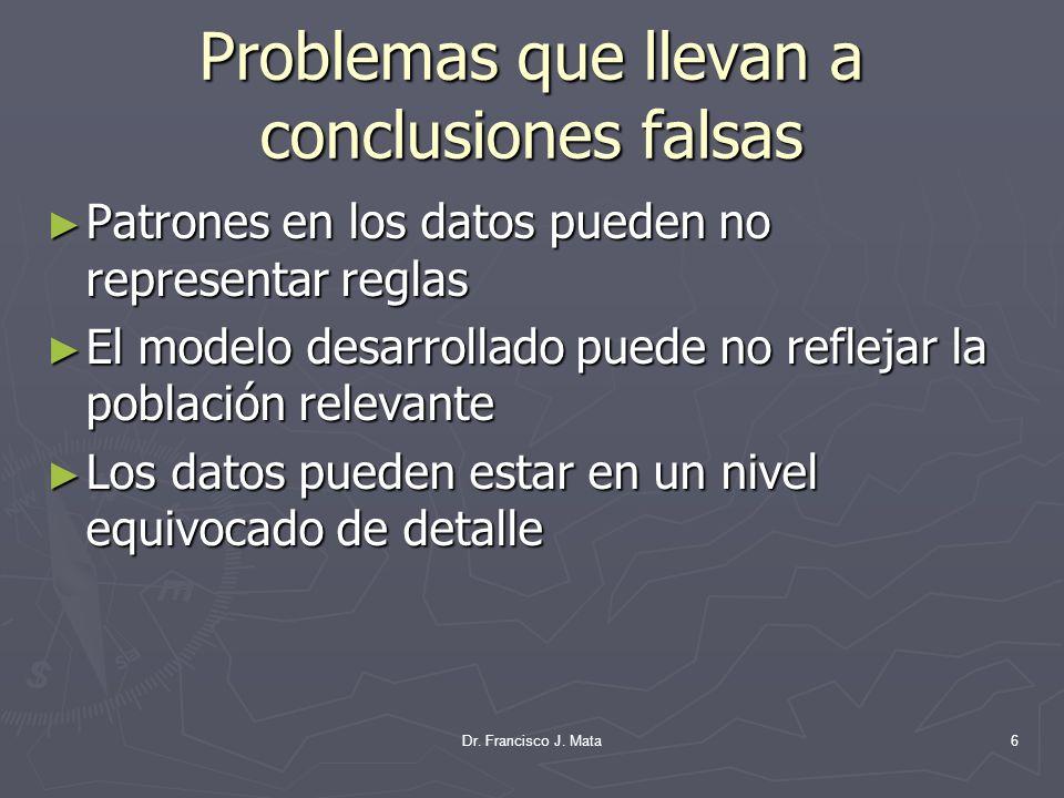 Problemas que llevan a conclusiones falsas