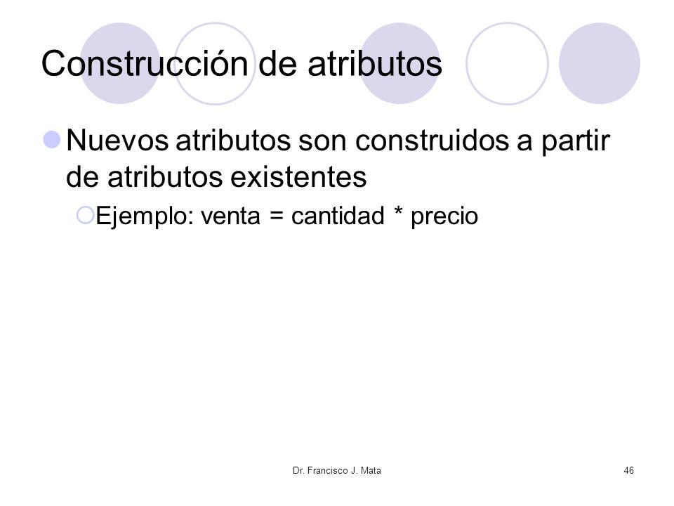 Construcción de atributos