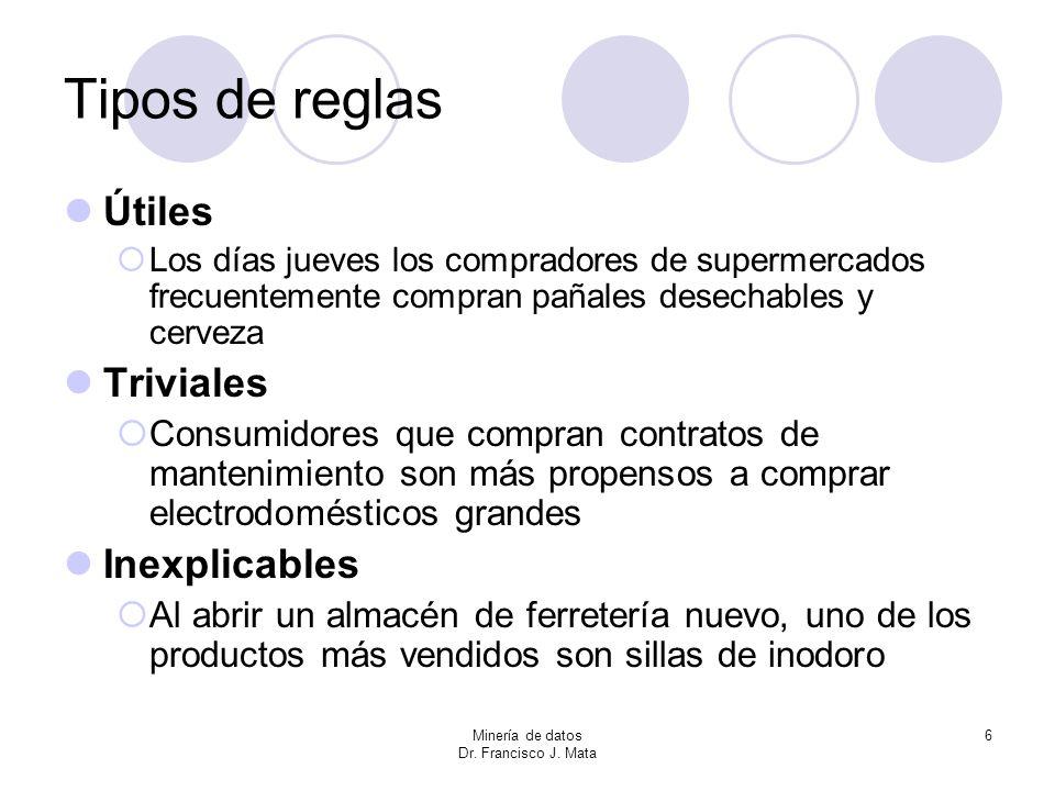 Tipos de reglas Útiles Triviales Inexplicables