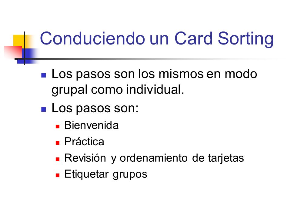 Conduciendo un Card Sorting