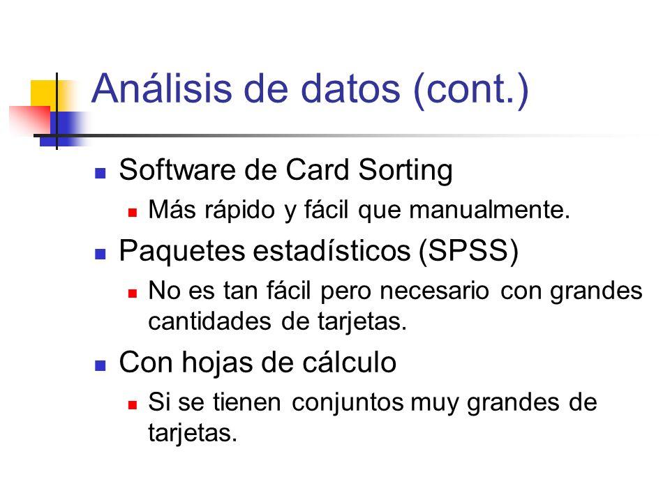 Análisis de datos (cont.)