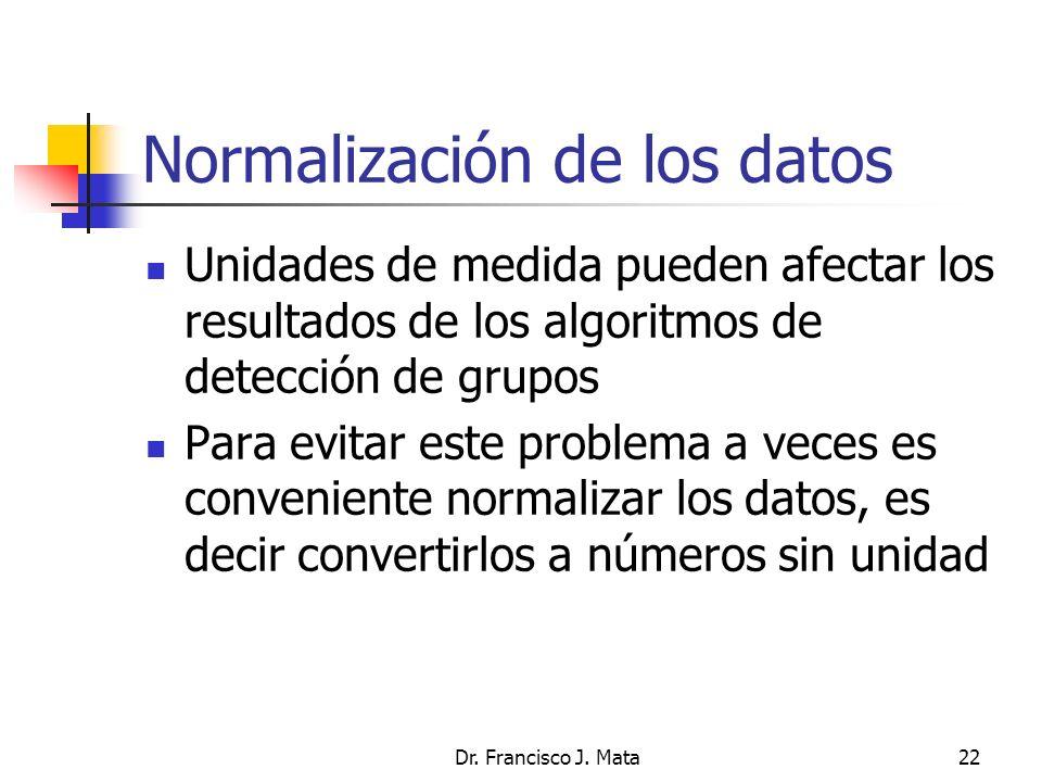 Normalización de los datos