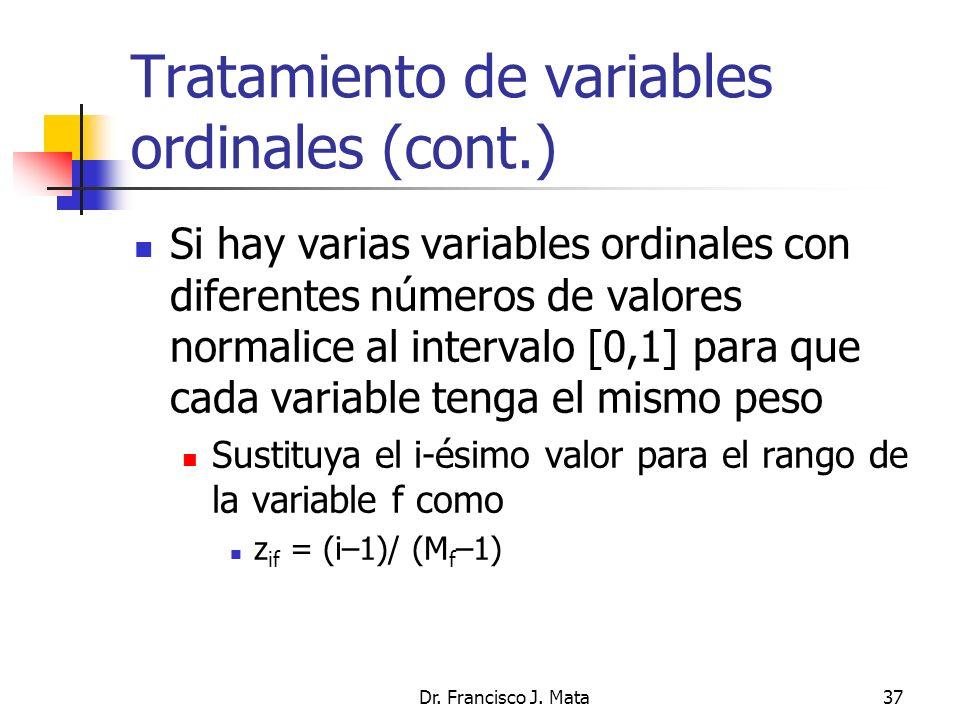 Tratamiento de variables ordinales (cont.)