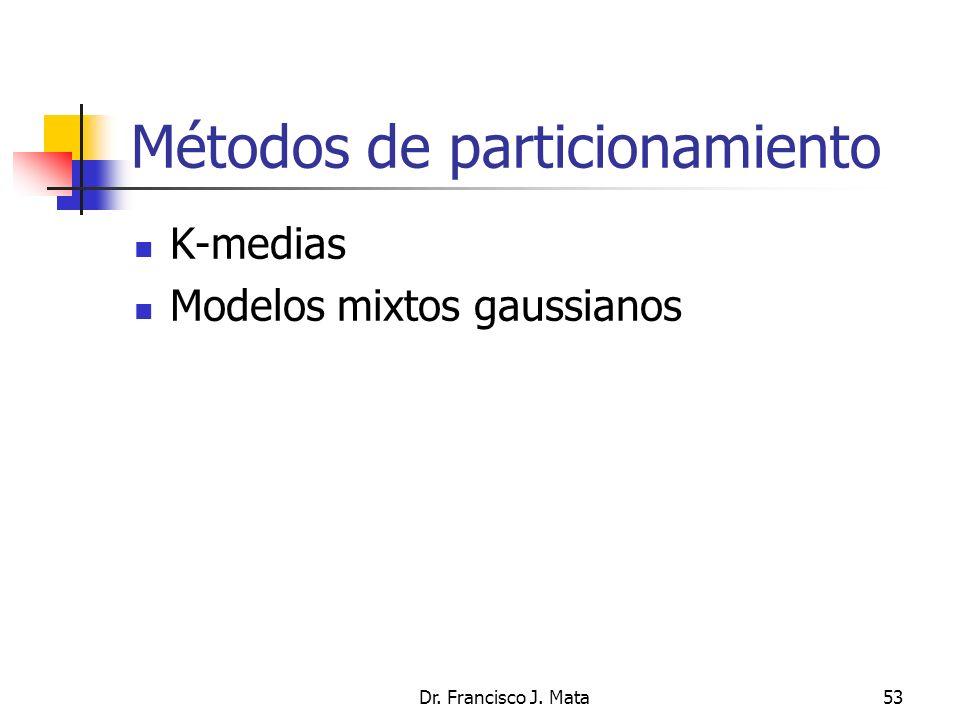 Métodos de particionamiento