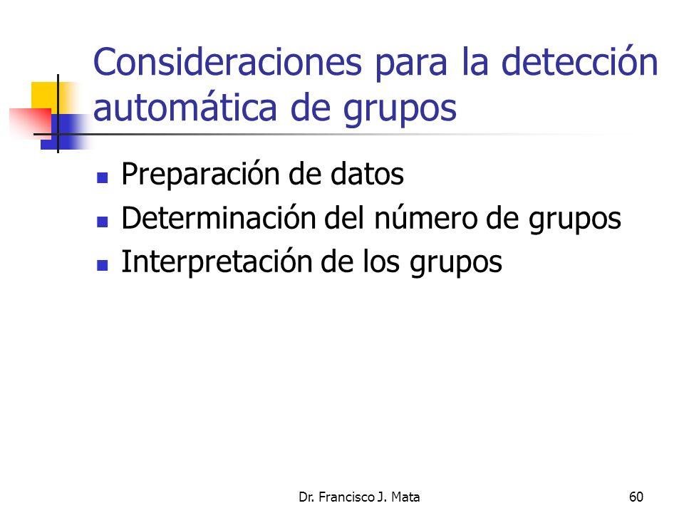 Consideraciones para la detección automática de grupos