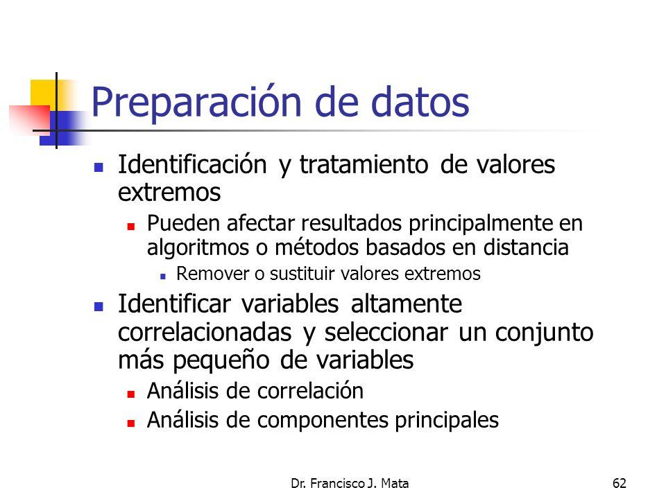 Preparación de datos Identificación y tratamiento de valores extremos
