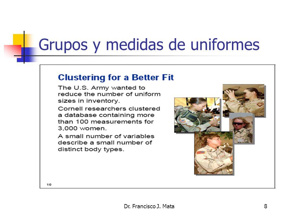 Grupos y medidas de uniformes