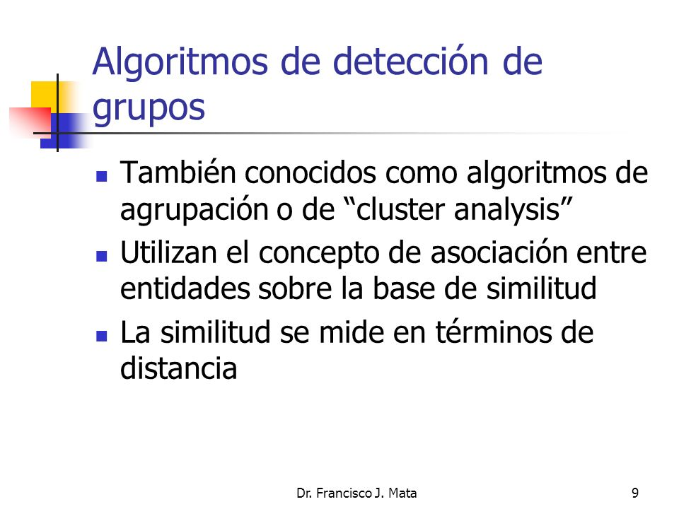 Algoritmos de detección de grupos