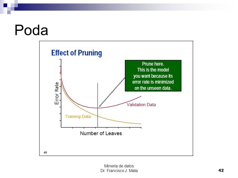 Poda Minería de datos Dr. Francisco J. Mata
