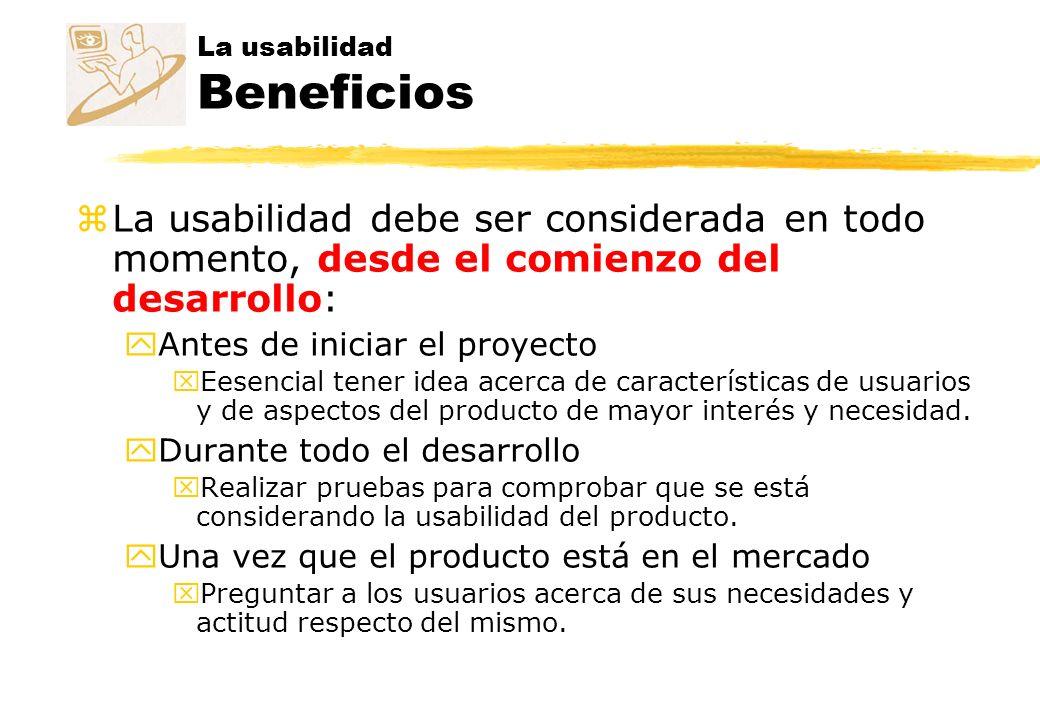 La usabilidad Beneficios