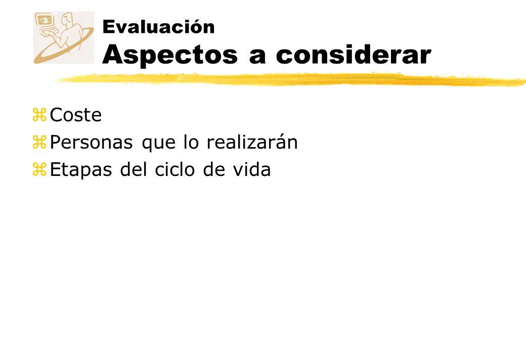 Evaluación Aspectos a considerar