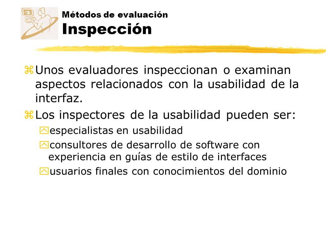 Métodos de evaluación Inspección