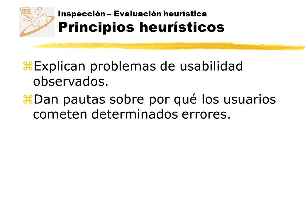 Explican problemas de usabilidad observados.