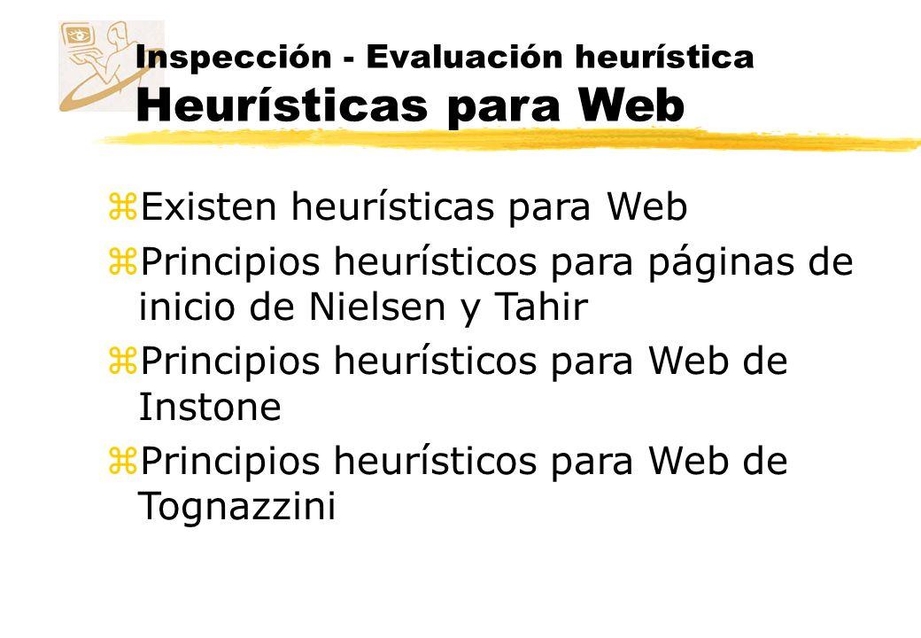 Existen heurísticas para Web