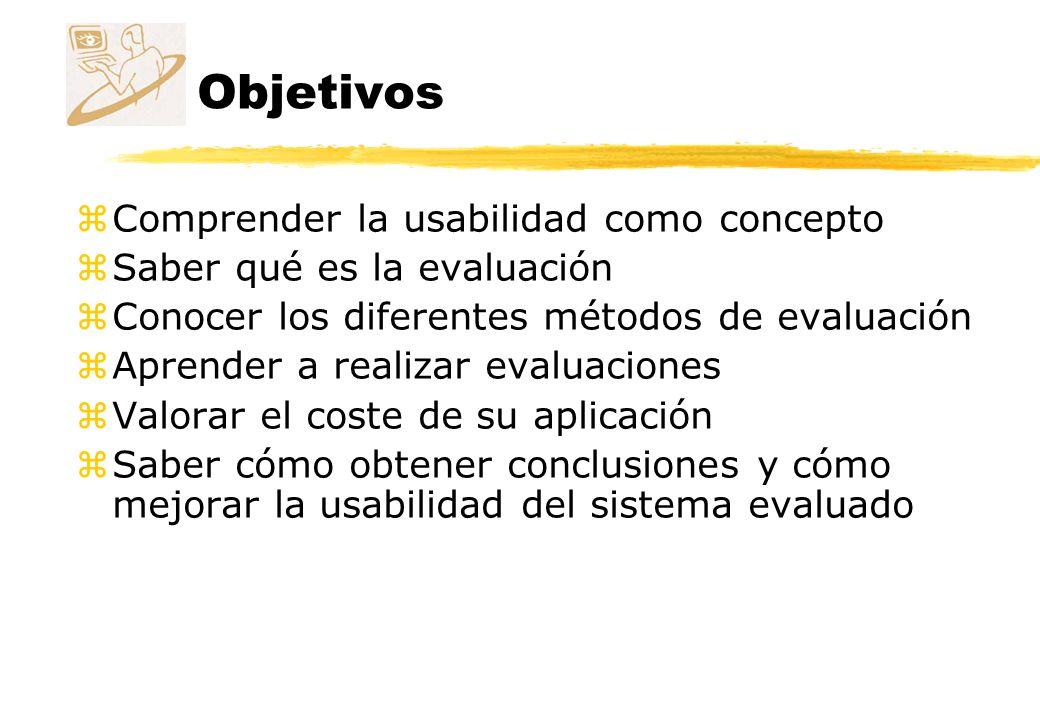 Objetivos Comprender la usabilidad como concepto