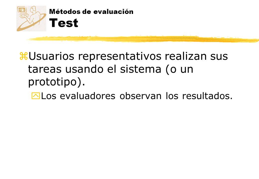 Métodos de evaluación Test