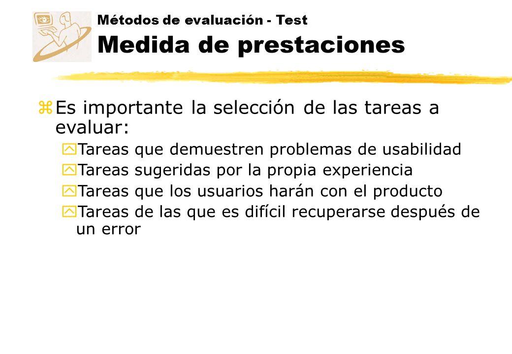 Es importante la selección de las tareas a evaluar:
