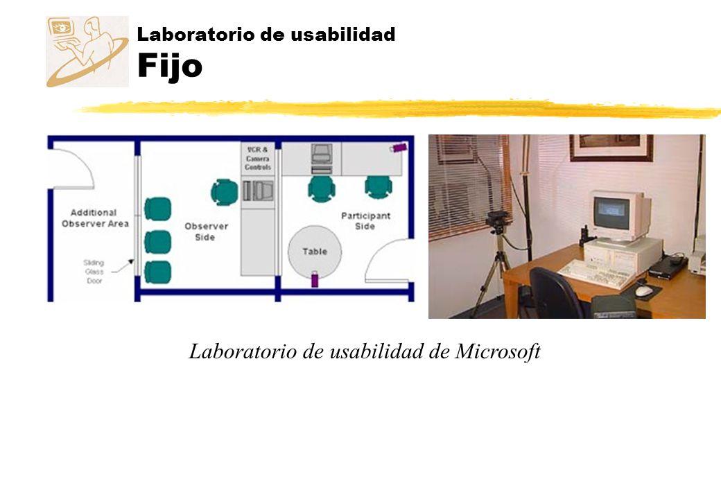 Laboratorio de usabilidad Fijo