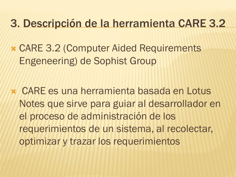 3. Descripción de la herramienta CARE 3.2