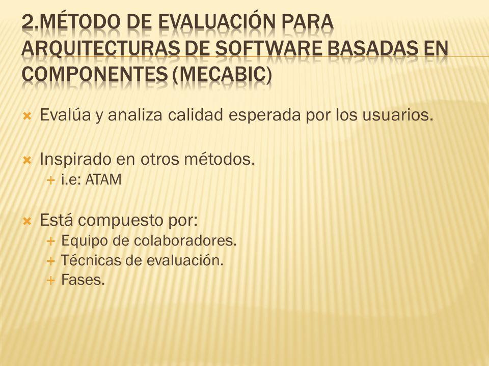 2.Método de Evaluación para Arquitecturas de Software Basadas en Componentes (Mecabic)
