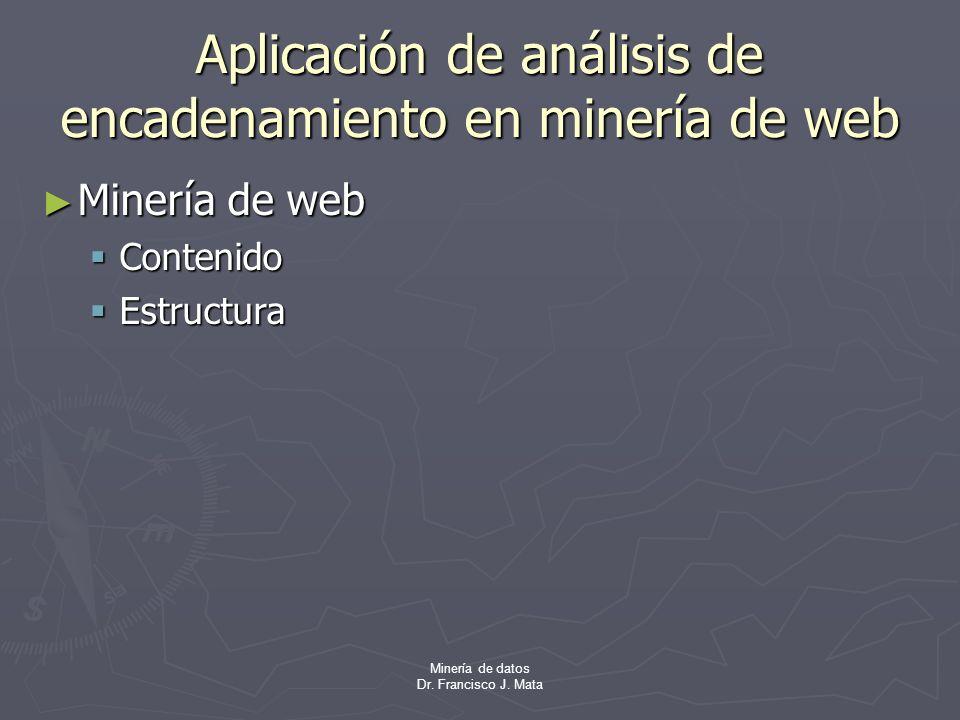 Aplicación de análisis de encadenamiento en minería de web