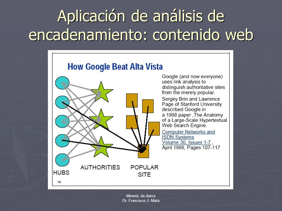 Aplicación de análisis de encadenamiento: contenido web