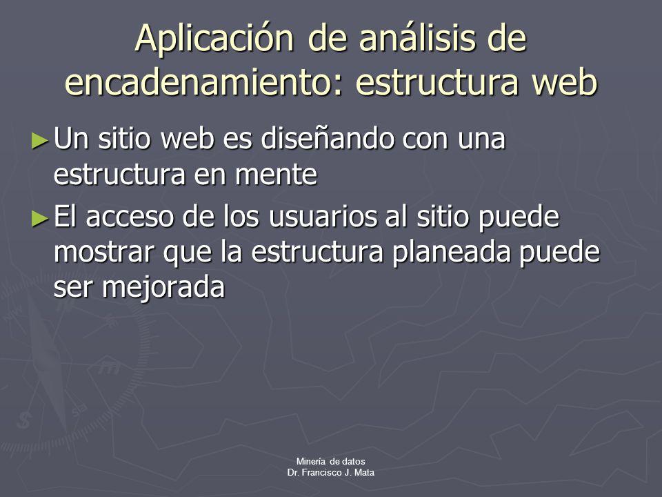 Aplicación de análisis de encadenamiento: estructura web