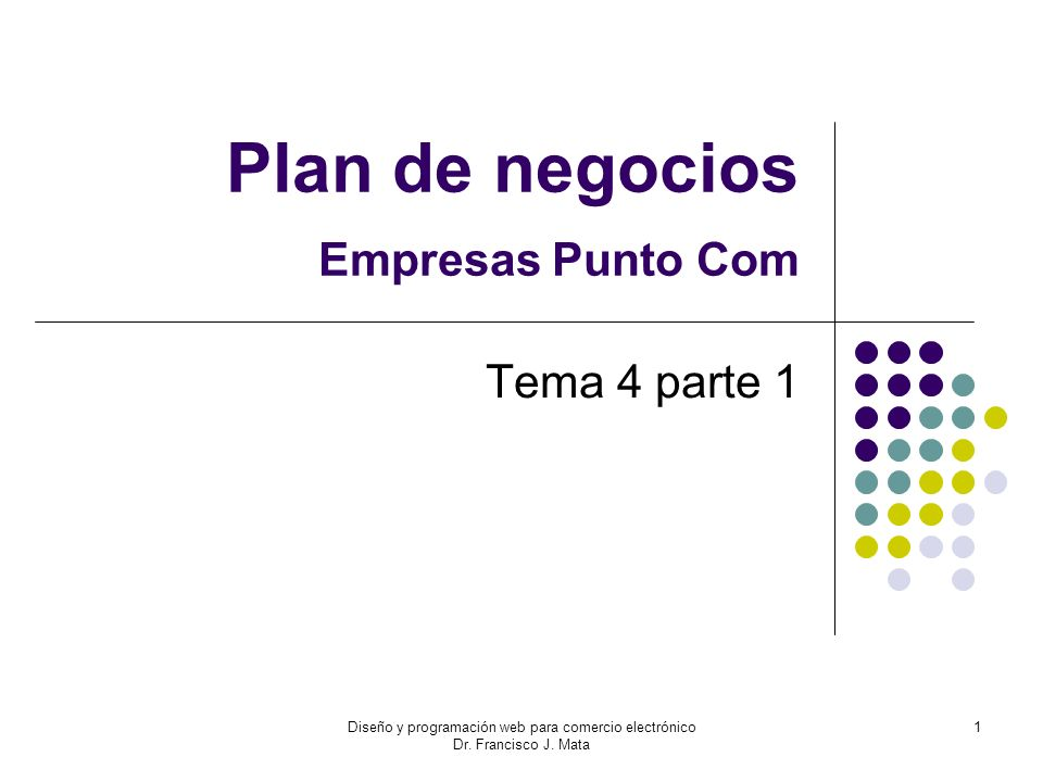 Plan de negocios Empresas Punto Com
