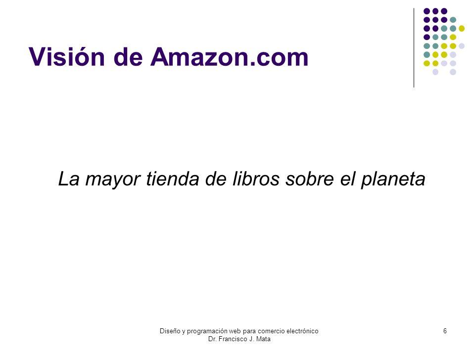 Visión de Amazon.com La mayor tienda de libros sobre el planeta