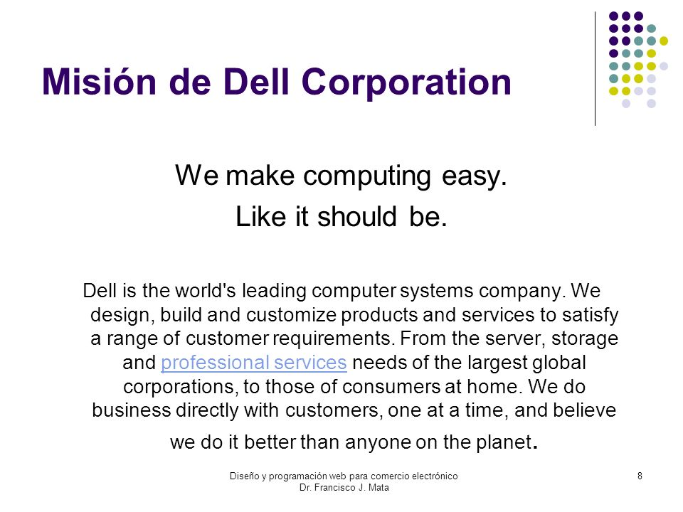 Misión de Dell Corporation