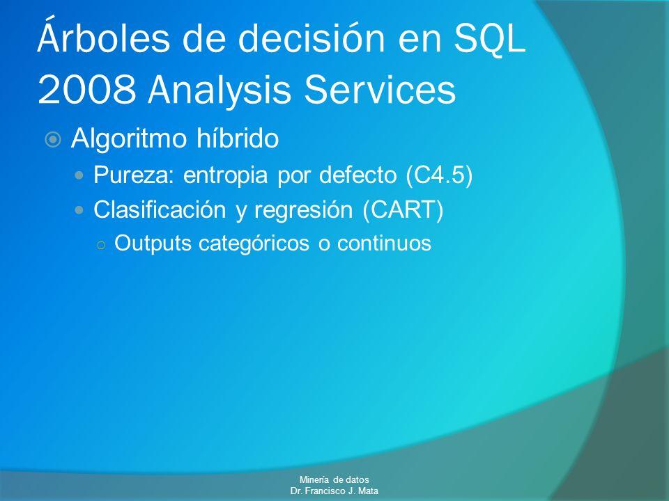 Árboles de decisión en SQL 2008 Analysis Services