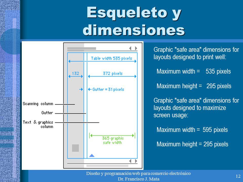 Esqueleto y dimensiones