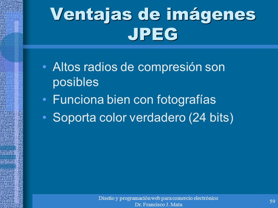 Ventajas de imágenes JPEG