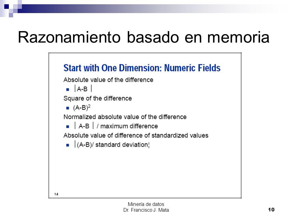 Razonamiento basado en memoria