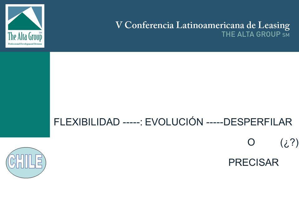 FLEXIBILIDAD -----: EVOLUCIÓN -----DESPERFILAR O (¿ ) PRECISAR