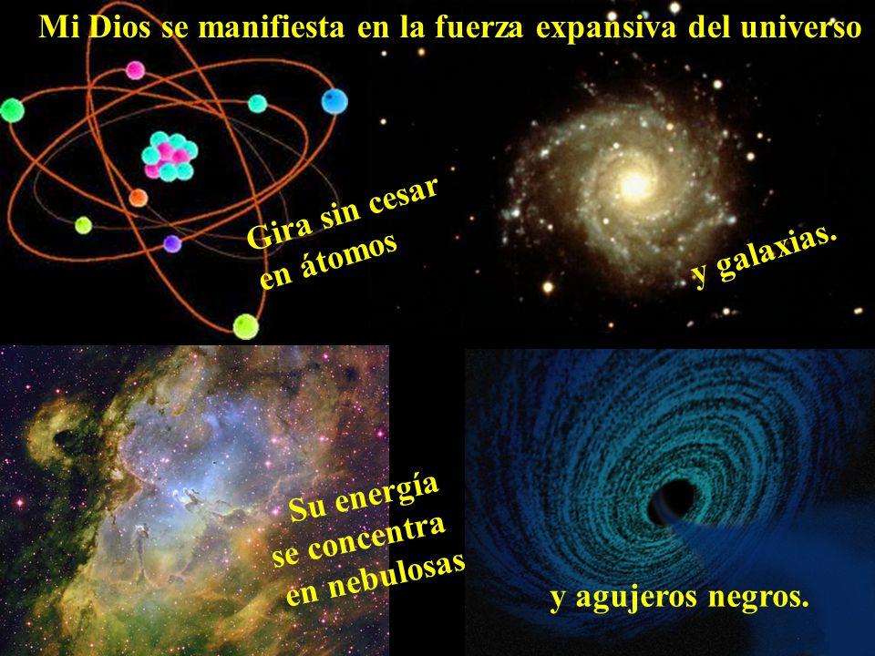 Mi Dios se manifiesta en la fuerza expansiva del universo