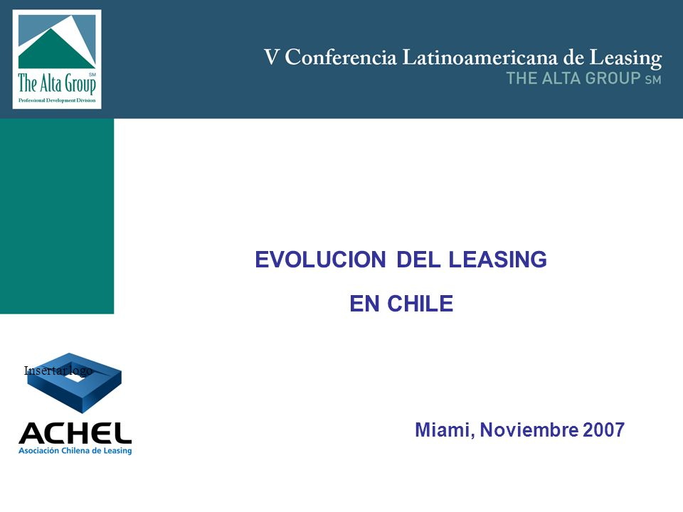 EVOLUCION DEL LEASING EN CHILE