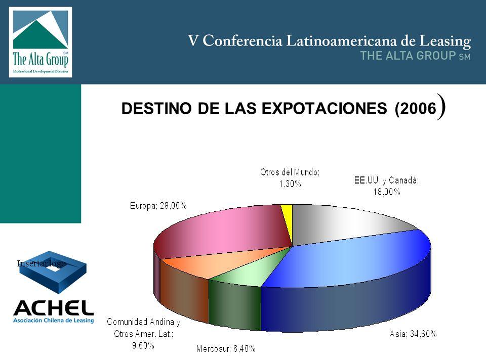 DESTINO DE LAS EXPOTACIONES (2006)