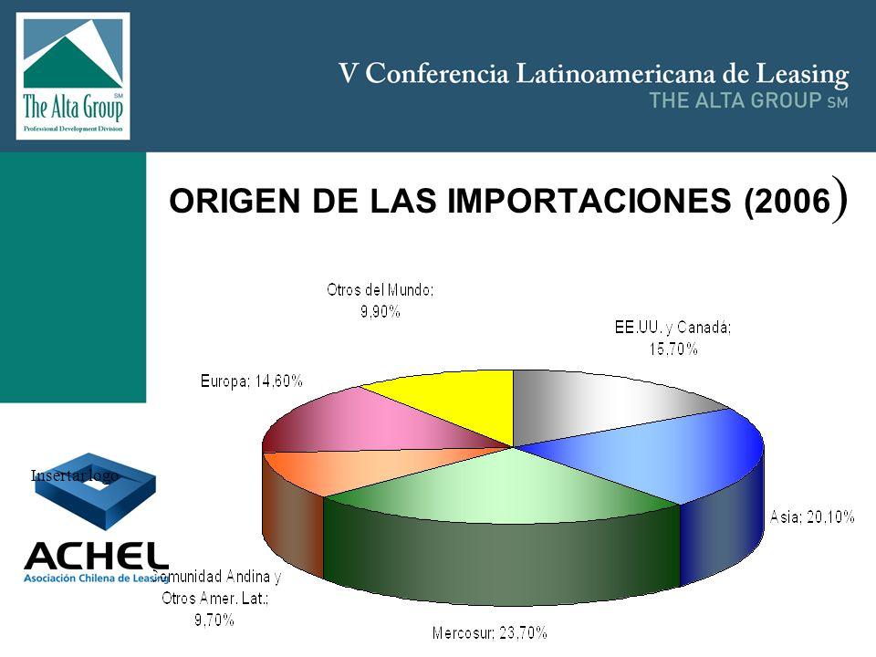 ORIGEN DE LAS IMPORTACIONES (2006)
