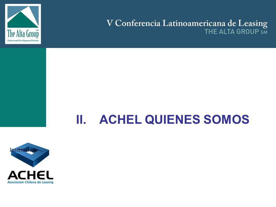 II. ACHEL QUIENES SOMOS Insertar logo