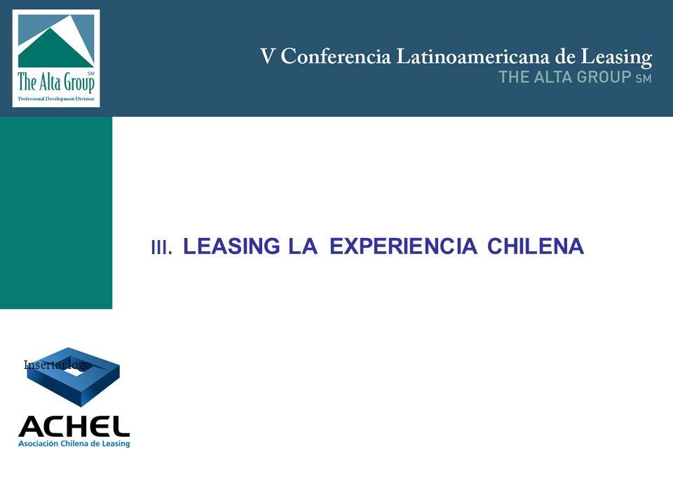 III. LEASING LA EXPERIENCIA CHILENA