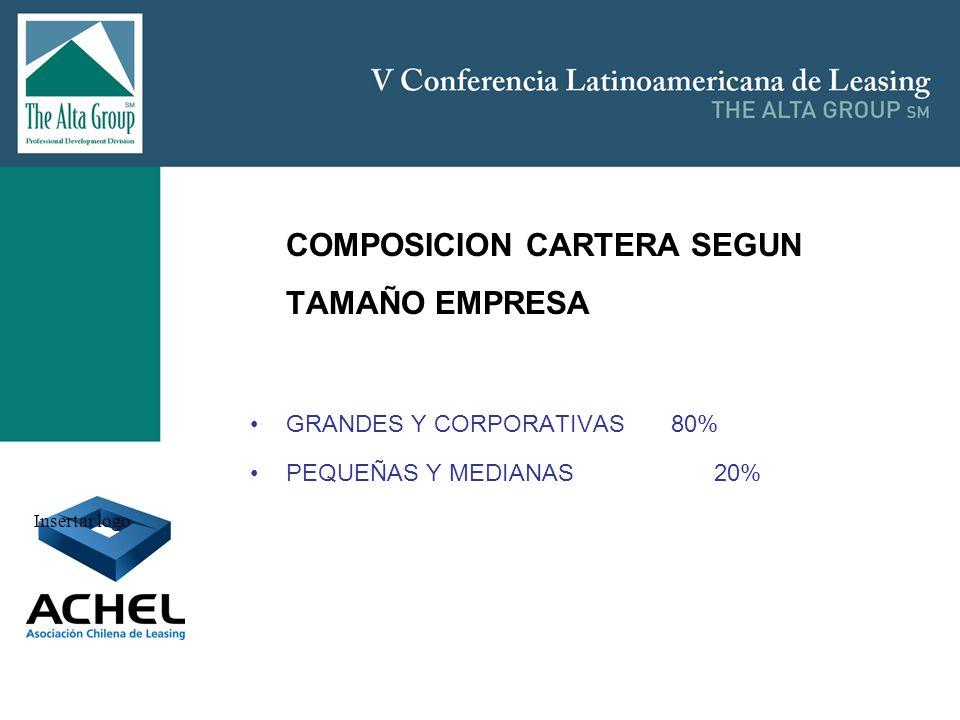 COMPOSICION CARTERA SEGUN TAMAÑO EMPRESA